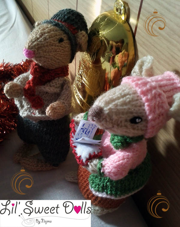 dickensian mice crochet ganchillo doll  najma05