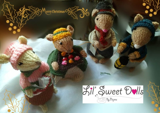 dickensian mice crochet ganchillo doll  najma07