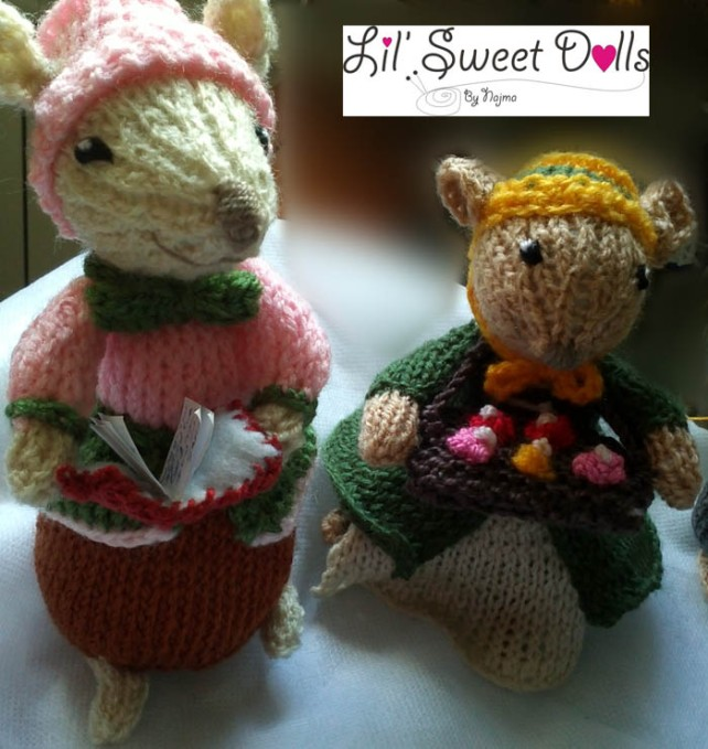 dickensian mice crochet ganchillo doll  najma08