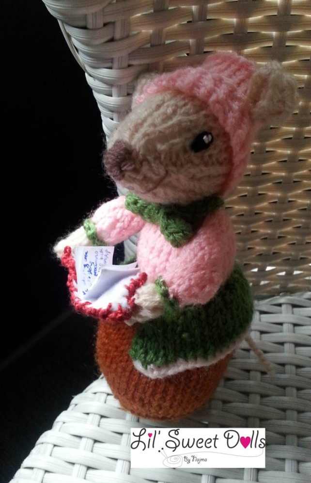 dickensian mice crochet ganchillo doll  najma14