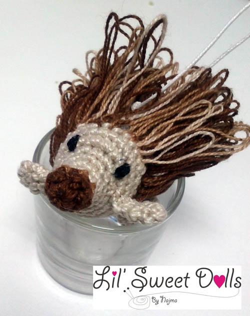 La vaquita de lanita: Pincho, el amigurumi erizo (patrón) | 633x500
