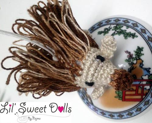 erizo amigurumi crochet keyring llavero