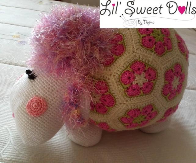 oveja amigurumi flores africanas african flower crochet sheep