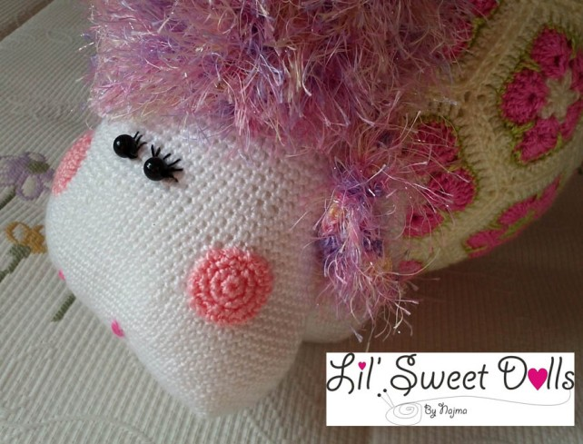oveja amigurumi flores africanas african flower crochet sheep crochet ganchillo
