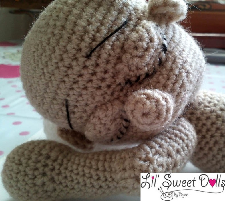 sleeping baby amigurumi crochet doll