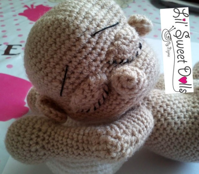 sleeping baby doll crochet