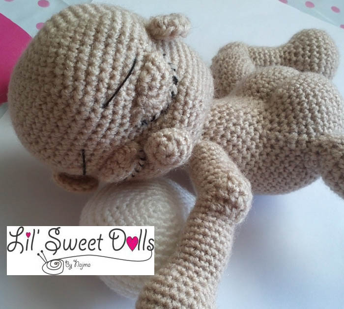 sleeping baby crochet doll amigurumi