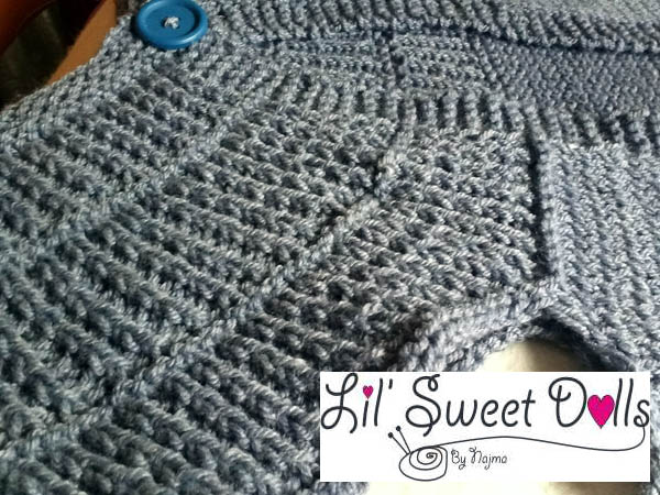 chaqueta tejida shalom cardigan knit
