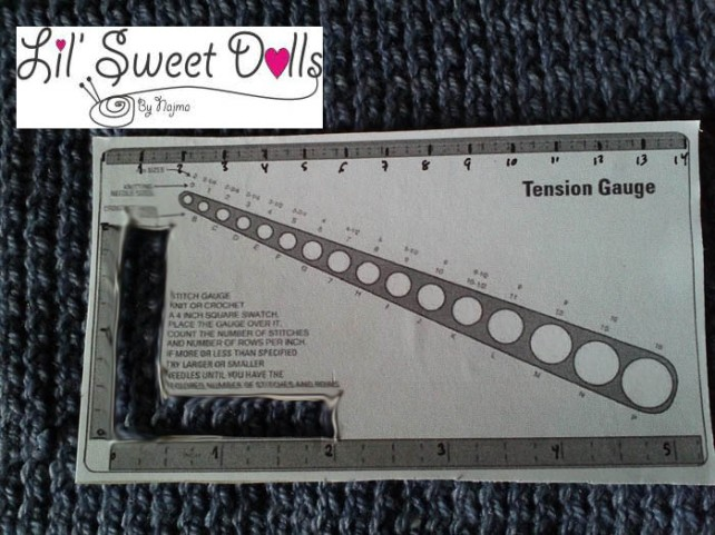 gauge medida tejido