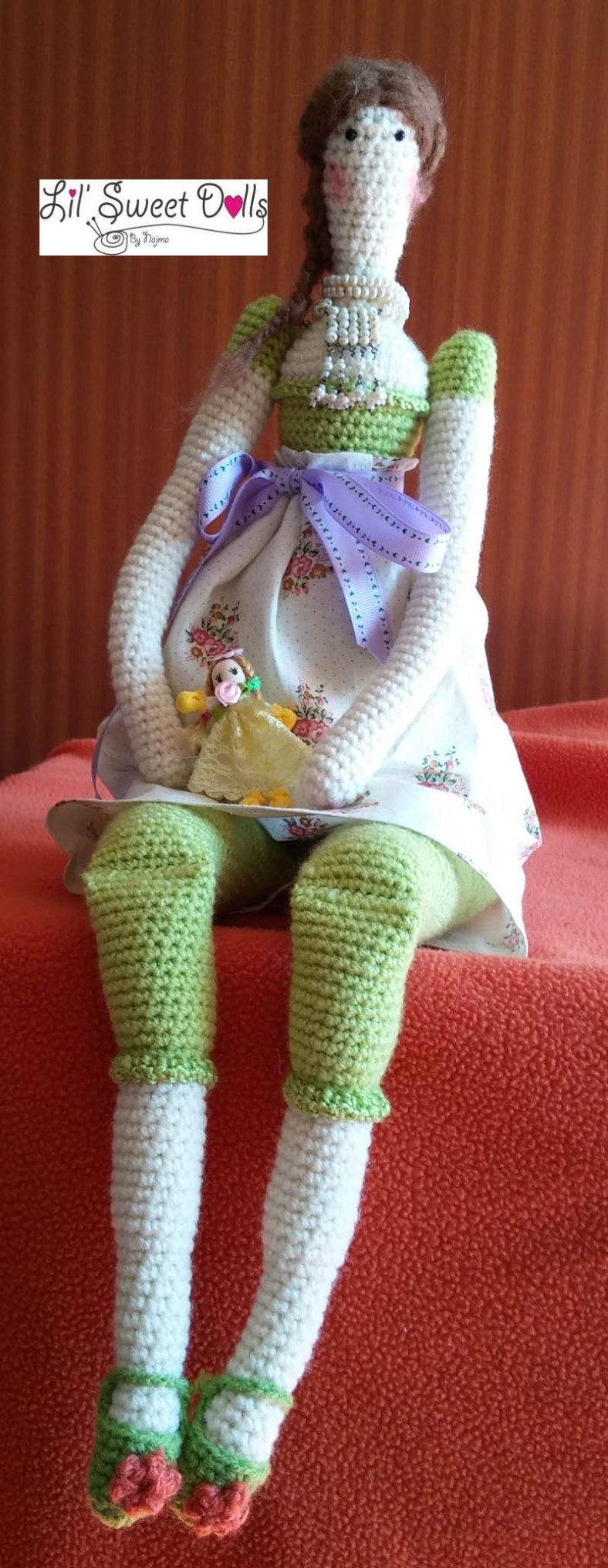 tilda crochet ganchillo doll  amigurumi 01