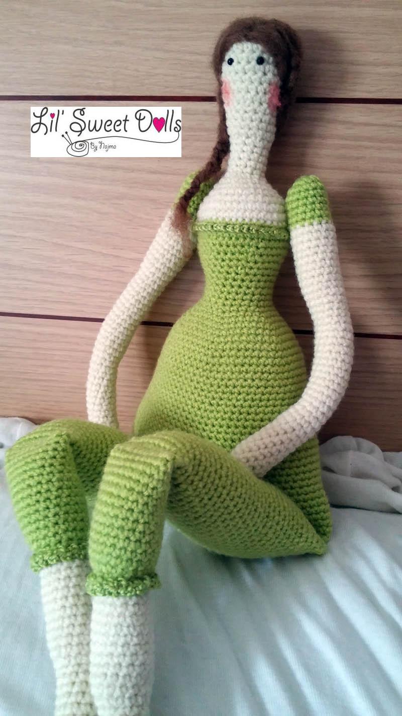 Descargar libre | Muñeca de ganchillo patrón de lana amigurumi ... | 1422x800