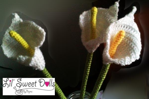 calla lily cala crochet ganchillo
