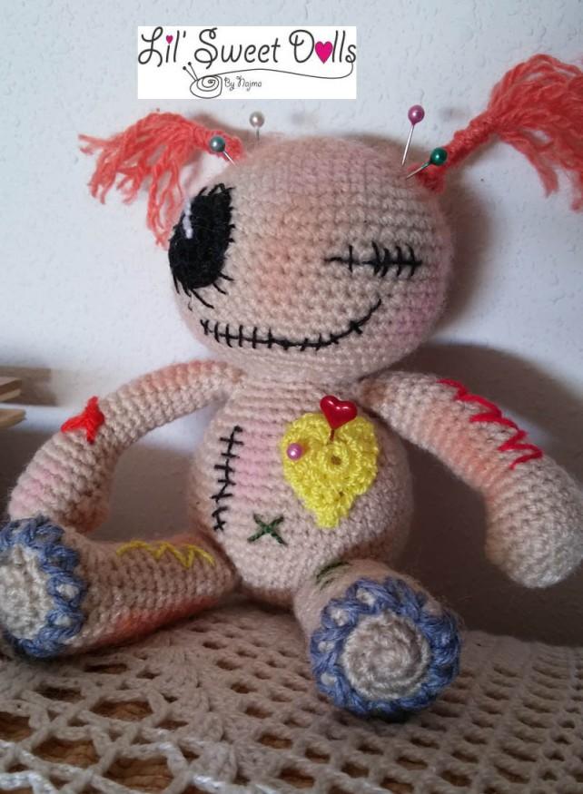 muñeca crochet voodoo doll ganchillo