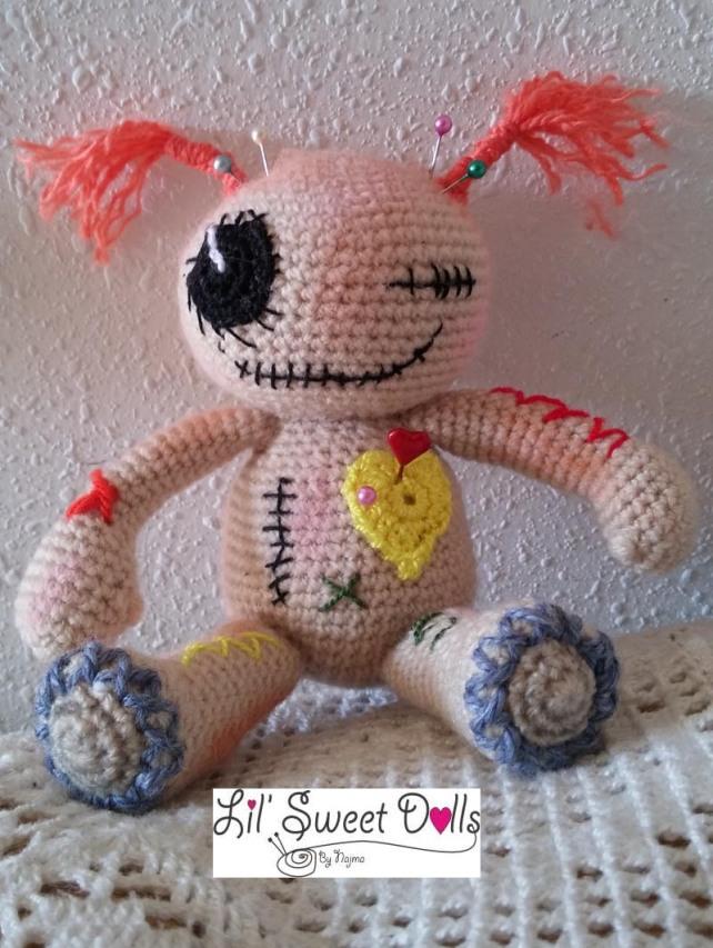 muñeca voodoo crochet doll ganchillo