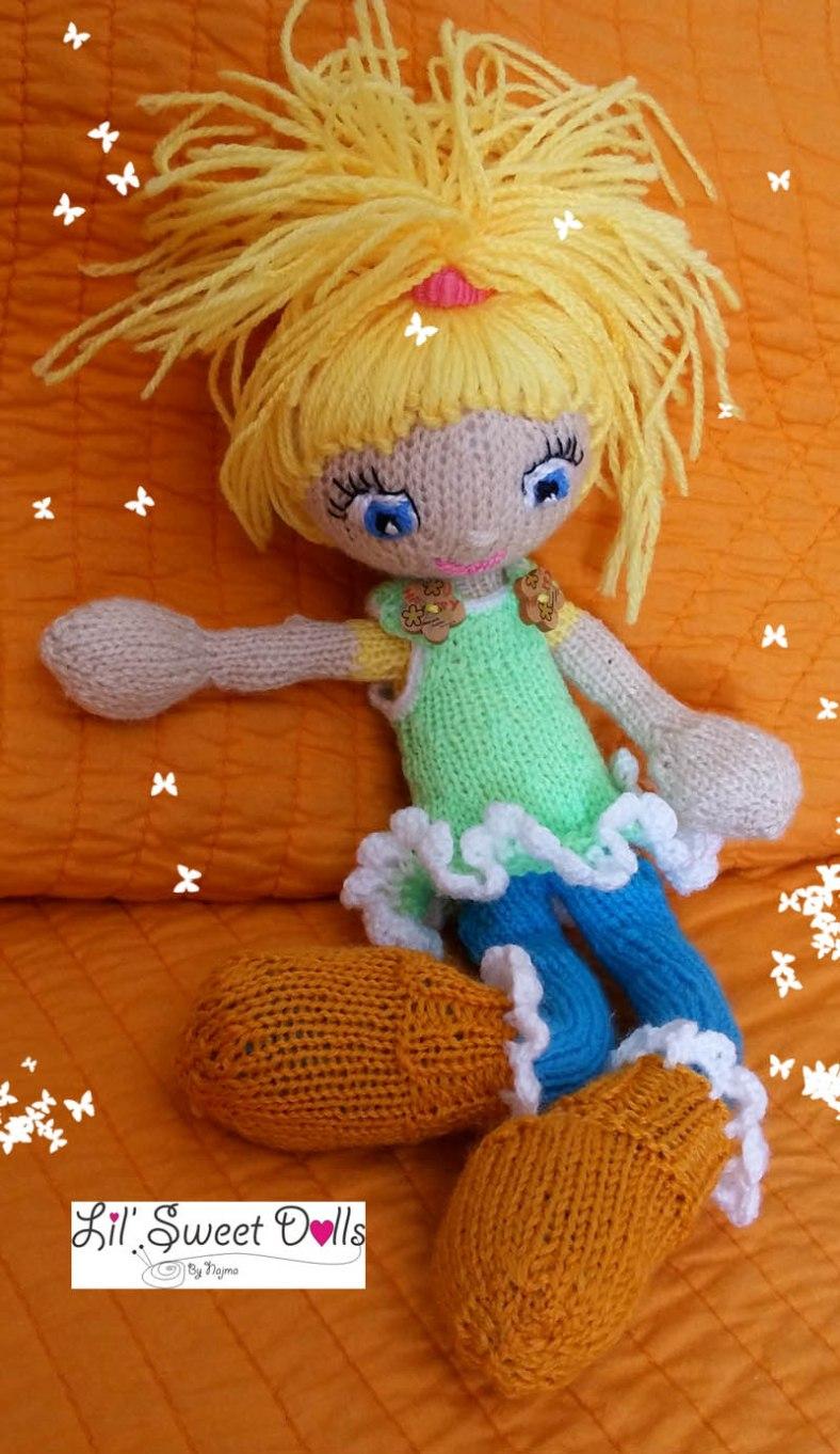muñeca tejida knitted doll