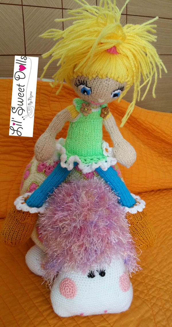 doll knit yarn amigurumi toy