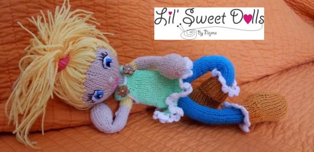 knitted doll muñeca tejida dos agujas