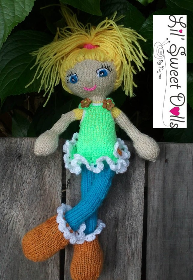 knitted doll amigurumi najma toy kids
