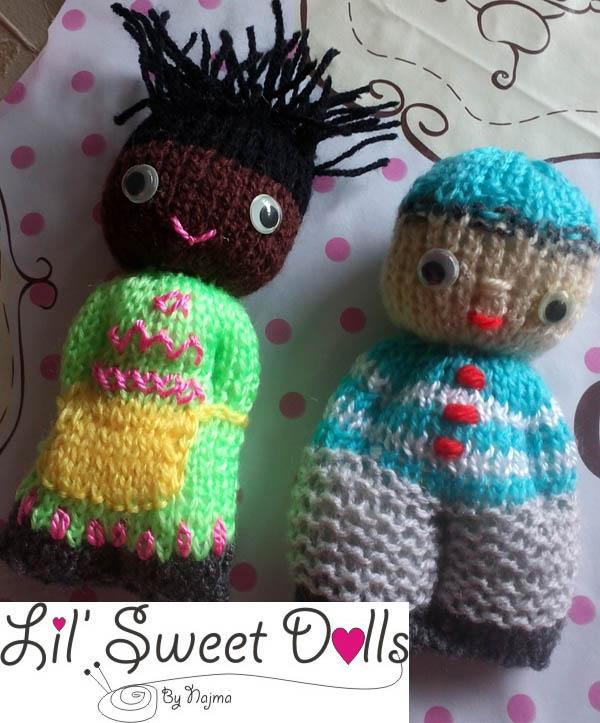 comfort knitted doll muñeca  tejida