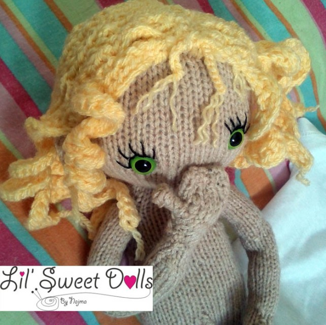 pixie moon knitted doll muñeca tejida  najma06