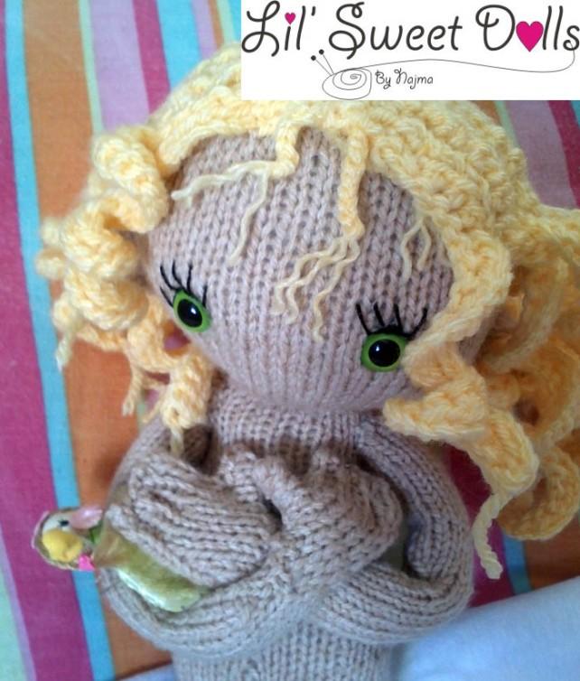 pixie moon knitted doll muñeca tejida  najma07