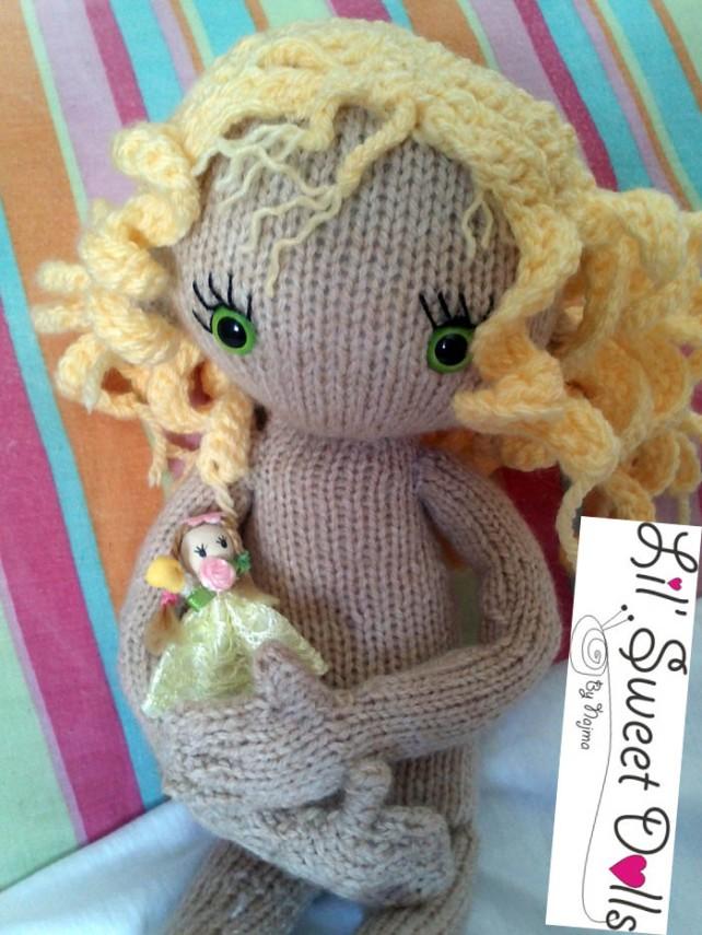 pixie moon knitted doll muñeca tejida  najma08