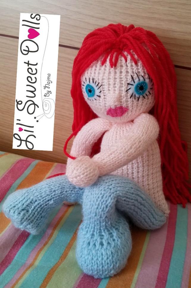 muñeca tejida knitted doll amigurumi