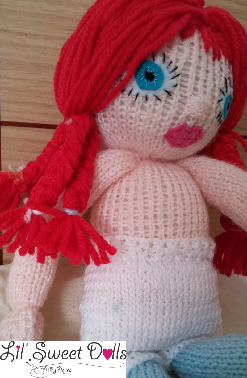 doll knitted yarn toy