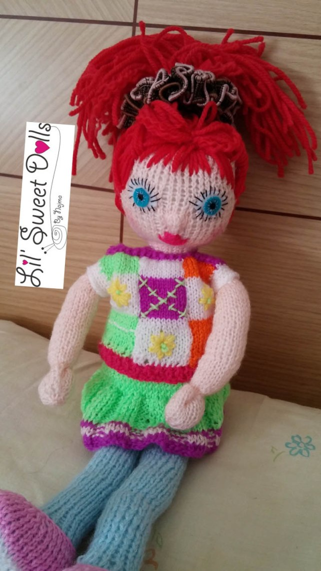 muñeca tejida amigurumi doll