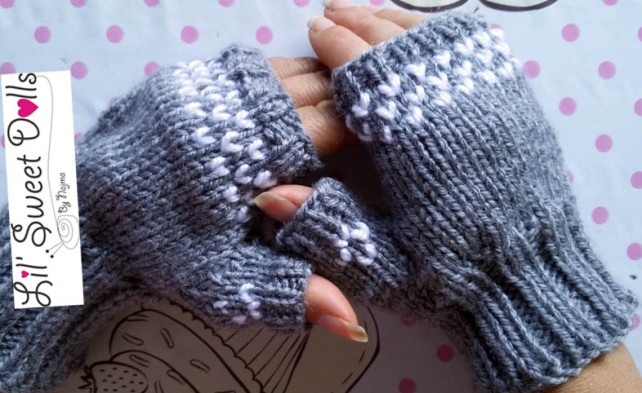 knitted mittens fingerless mitts