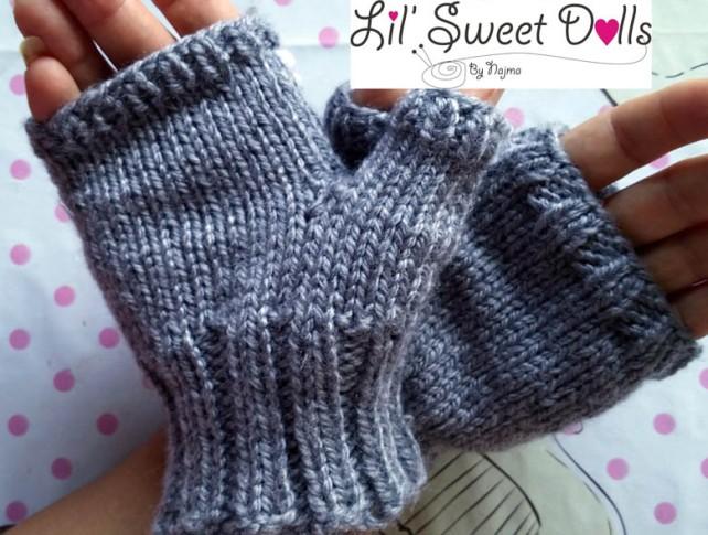 fingerless mitts knit mittens gloves