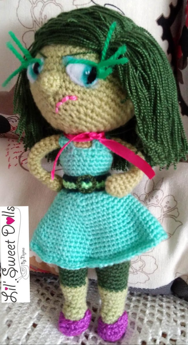 disgust inside out amigurumi doll muñeca ganchillo crochet