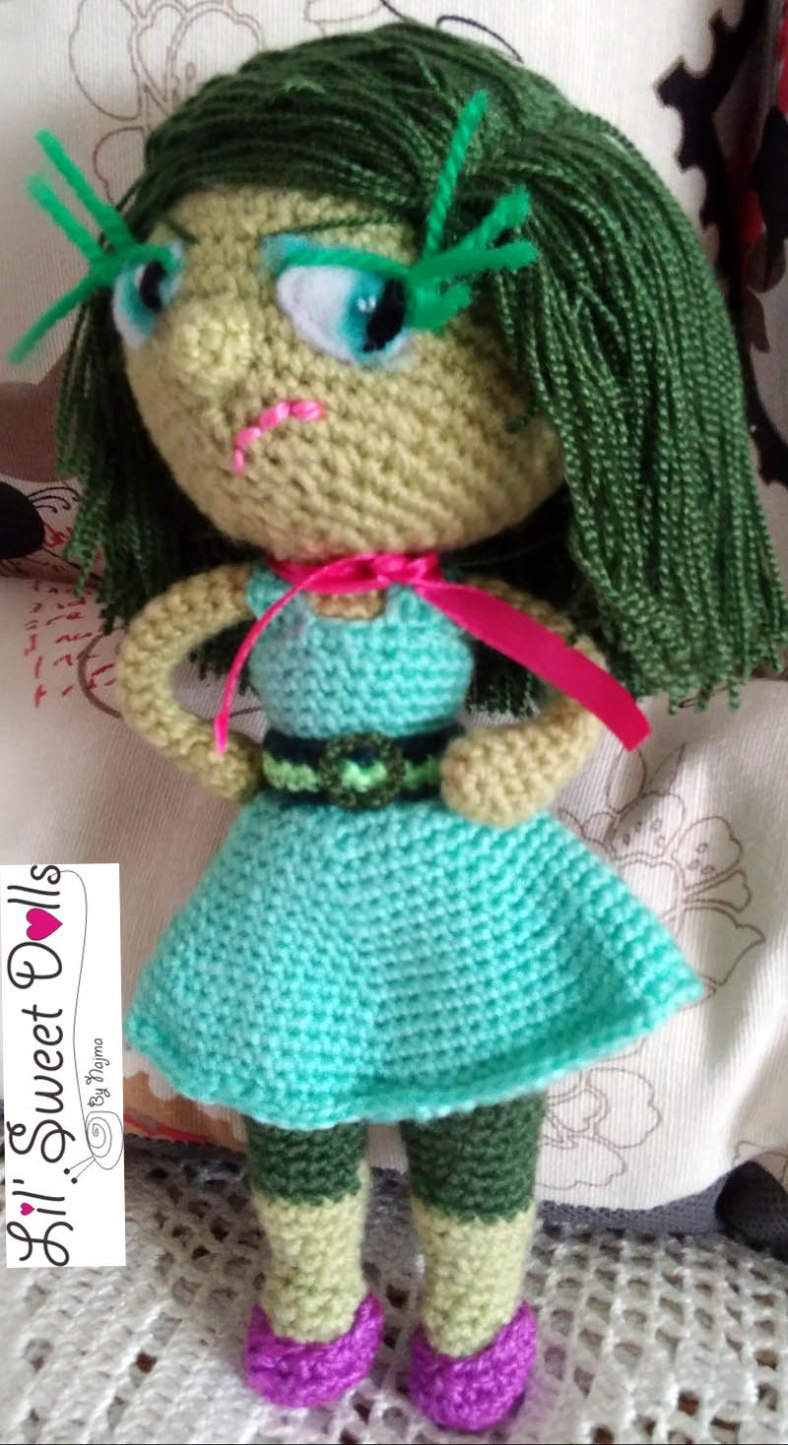 disgust inside out amigurumi doll muñeca ganchillo crochet