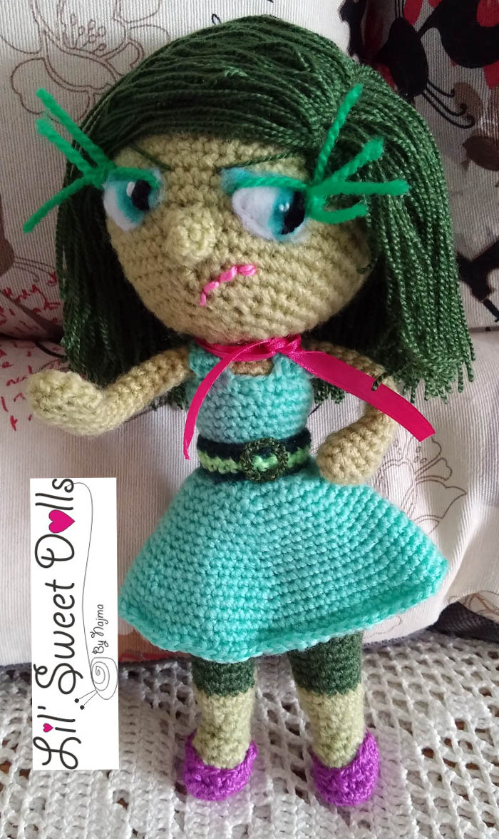 toy disgust inside out amigurumi doll muñeca ganchillo crochet