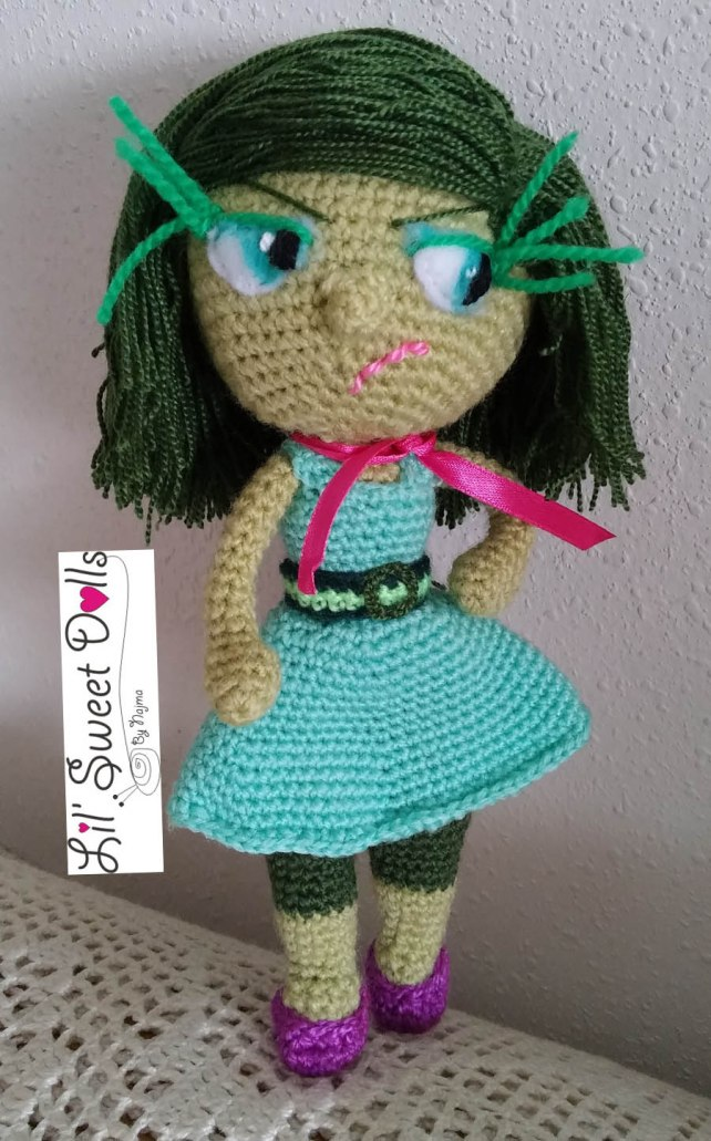 doll disgust inside out amigurumi doll muñeca ganchillo crochet