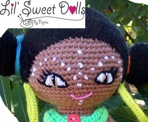 african crochet doll amigurumi