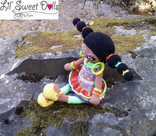 crochet ganchillo doll amigurumi african