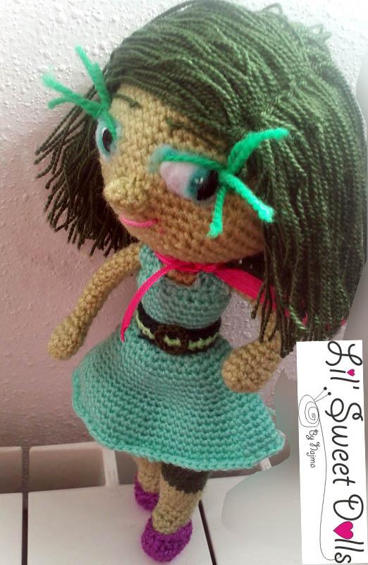 disgust doll amigurumi crochet ganchillo