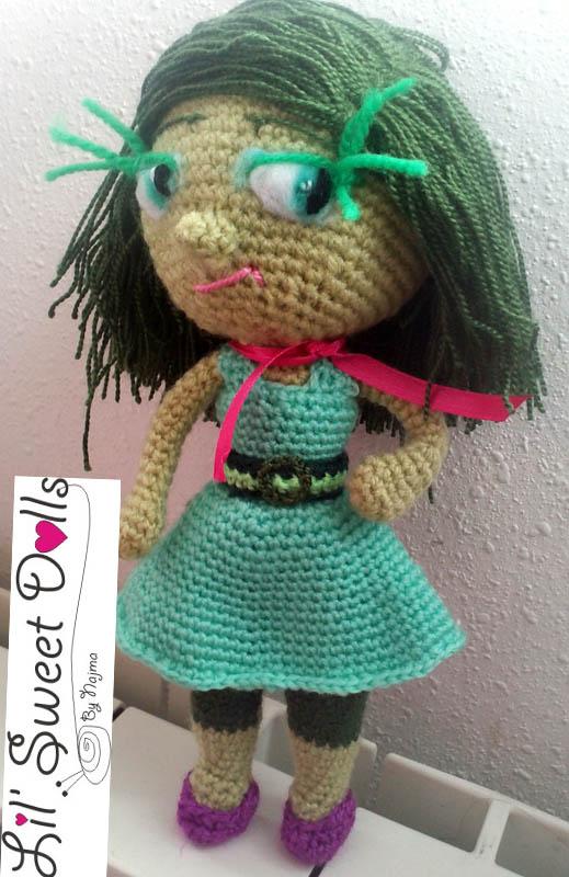 disgusto amigurumis najma doll muñeca