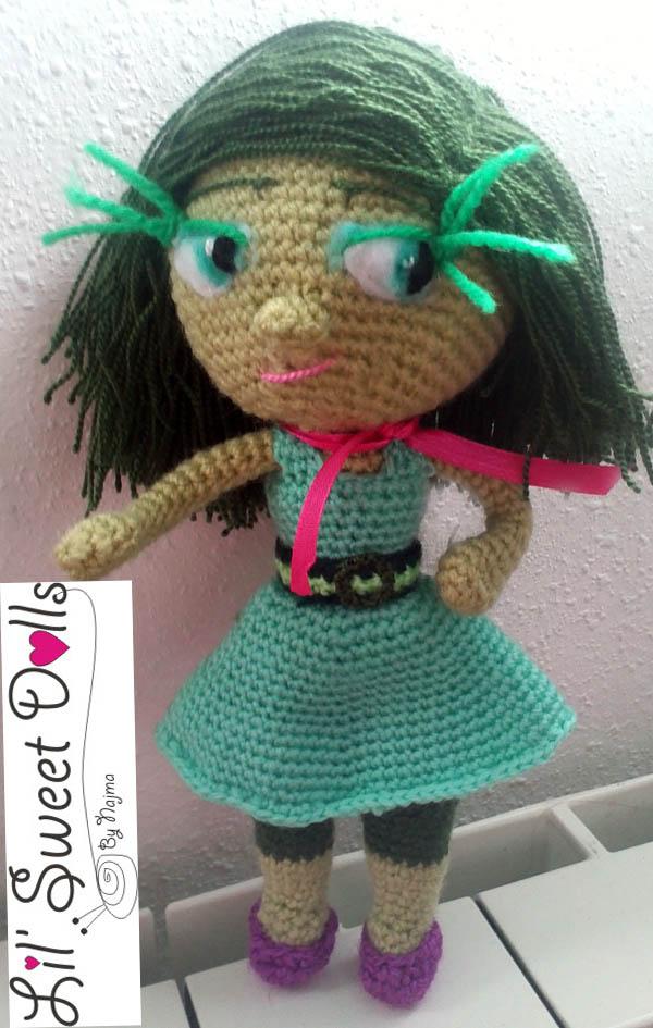 disgusto muñeca disgust doll amigurumi najma