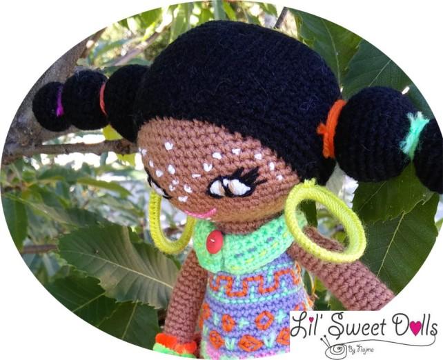 doll african crochet amigurumi ganchillo muñeca