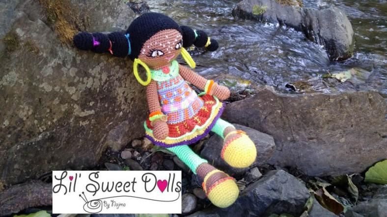 muñeca africana african doll crochet muñeca negrita ganchillo crochet  amigurumi