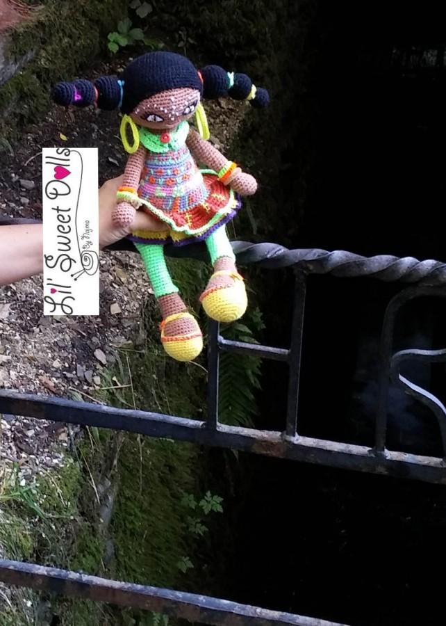 muñeca africana african doll crochet muñeca negrita ganchillo najma crochet  amigurumi