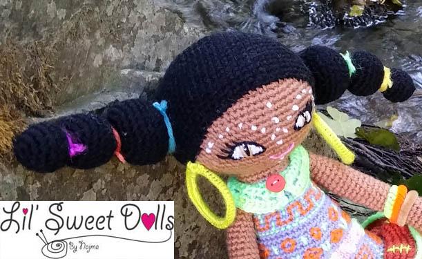muñeca africana african doll crochet muñeca negrita ganchillo najma crochet  amigurumi0