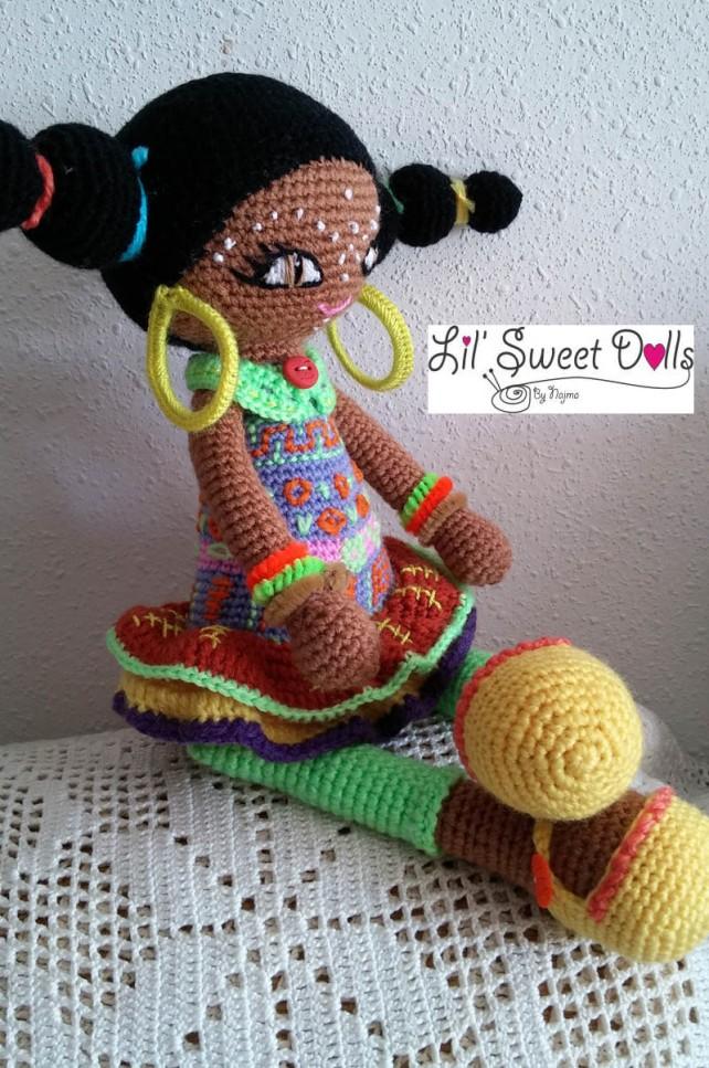 muñeca africana african doll crochet muñeca negrita ganchillo najma crochet  amigurumi02