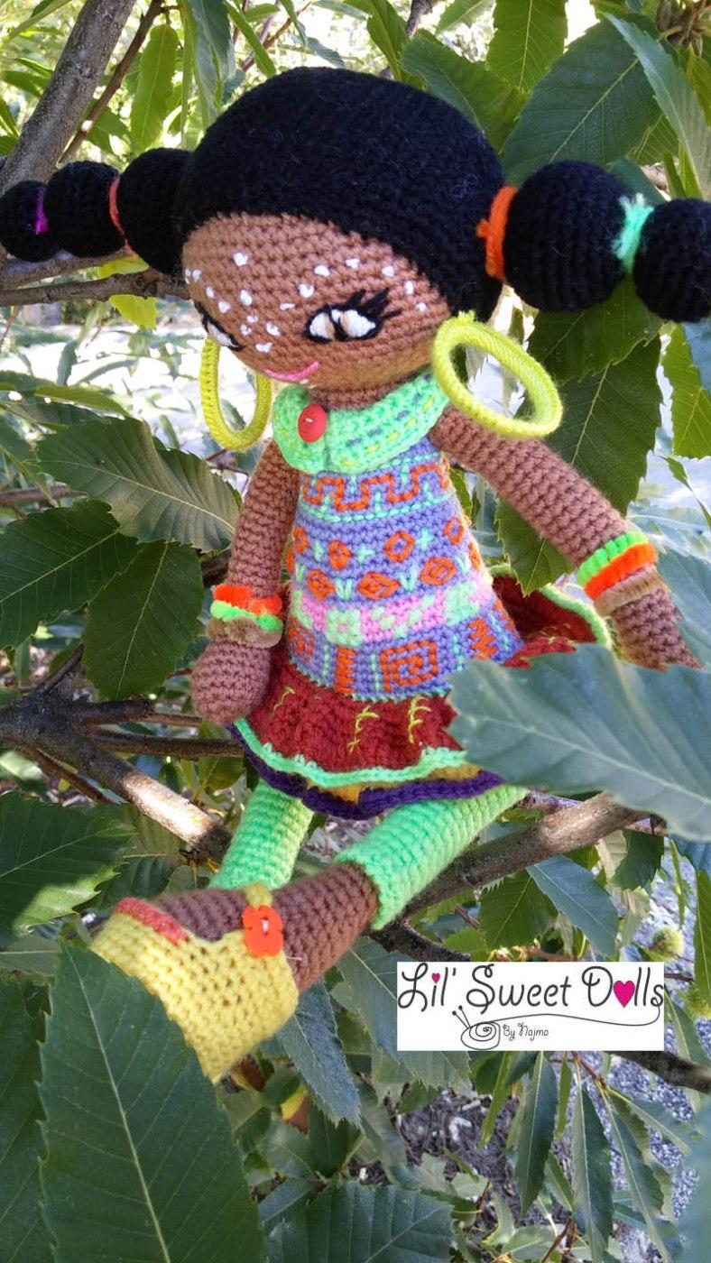muñeca africana african doll crochet muñeca negrita ganchillo najma crochet  amigurumi04
