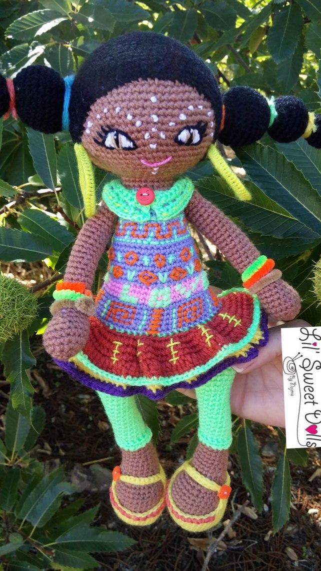 muñeca africana african doll crochet muñeca negrita ganchillo najma crochet  amigurumi06