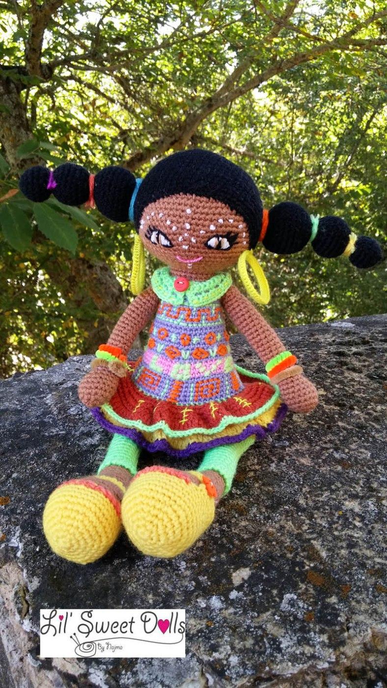 muñeca africana african doll crochet muñeca negrita ganchillo najma crochet  amigurumi07