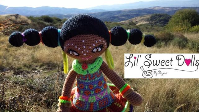 muñeca africana african doll crochet muñeca negrita ganchillo najma crochet  amigurumi09