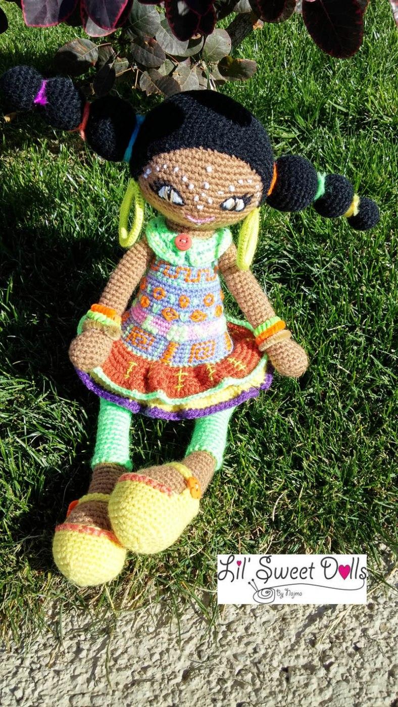 muñeca africana african doll crochet muñeca negrita ganchillo najma crochet  amigurumi11